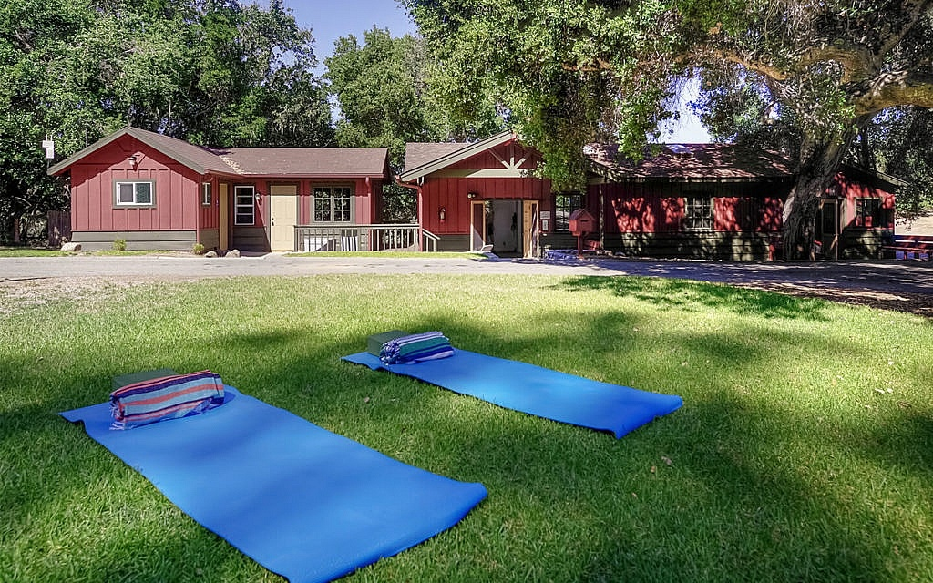 Yoga outdoors Camp Carmel Valley
