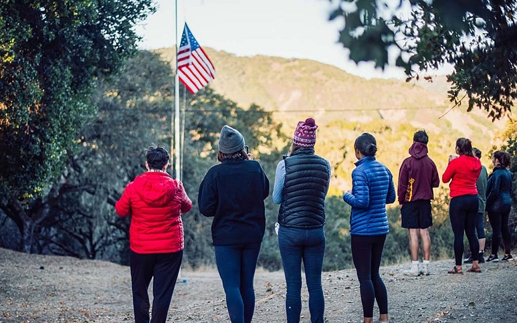 Raising Flag Camp Carmel Valley
